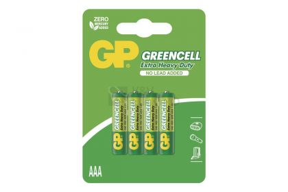Baterije GP Greencell AAA-R03 4/1