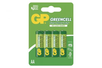 Baterije GP Greencell AA-R6 4/1
